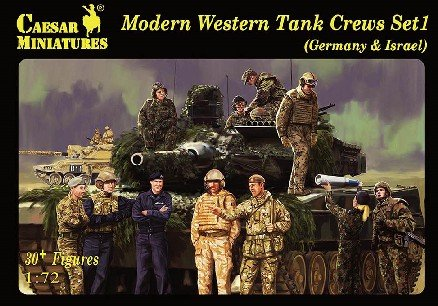 Image 0 of Caesar Miniatures 1/72 Modern Western Tank Crews Set 1 Germany & Israel Set H102