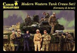 Caesar Miniatures 1/72 Modern Western Tank Crews Set 1 Germany & Israel Set H102