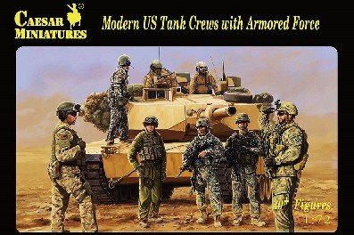 Image 0 of Caesar Miniatures 1/72 Modern U.S. Tank Crews & Armored Force Set H103