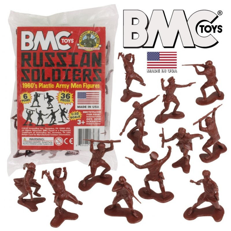 Image 0 of BMC Marx 1/32nd 54mm Reissue WWII Russian Soldiers Set