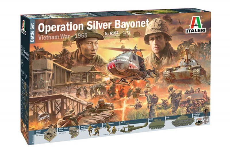 Image 0 of Italeri 1/72 Operation Silver Bayonet Vietnam War Diorama Set 6184 NEW!