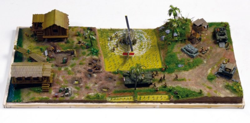 Image 2 of Italeri 1/72 Operation Silver Bayonet Vietnam War Diorama Set 6184 NEW!