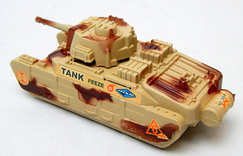 Image 1 of World War II British Matilda Type Tan Plastic Tank