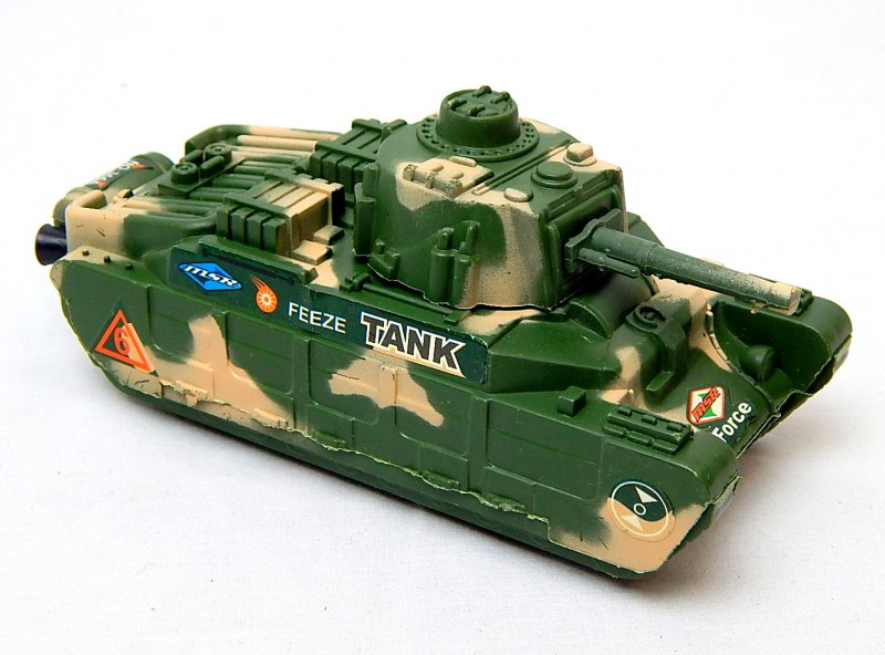 Image 0 of World War II British Matilda Type Green Plastic Tank