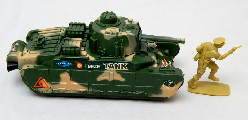 Image 2 of World War II British Matilda Type Green Plastic Tank