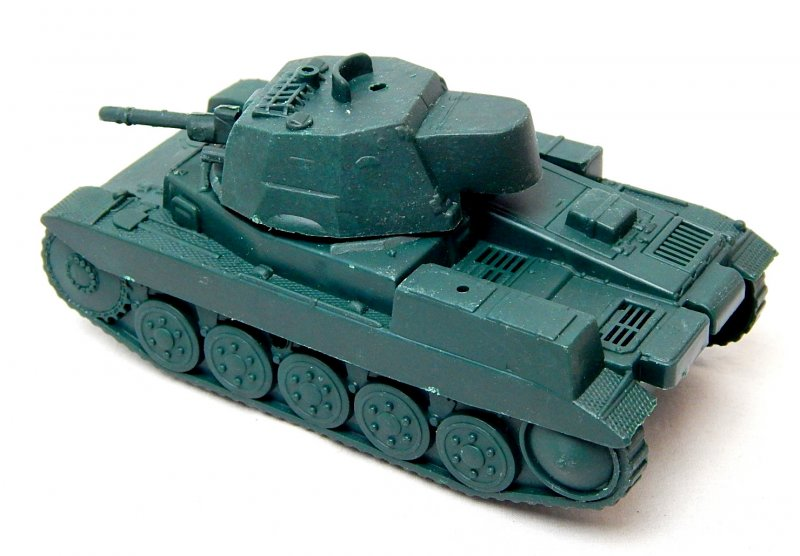 Image 1 of World War II German Panzer II Style Green Plastic Tank