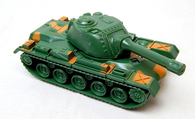 Image 0 of U.S. Army M48 M60 Patton Green Camo Plastic Tank
