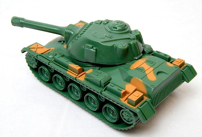 Image 1 of U.S. Army M48 M60 Patton Green Camo Plastic Tank