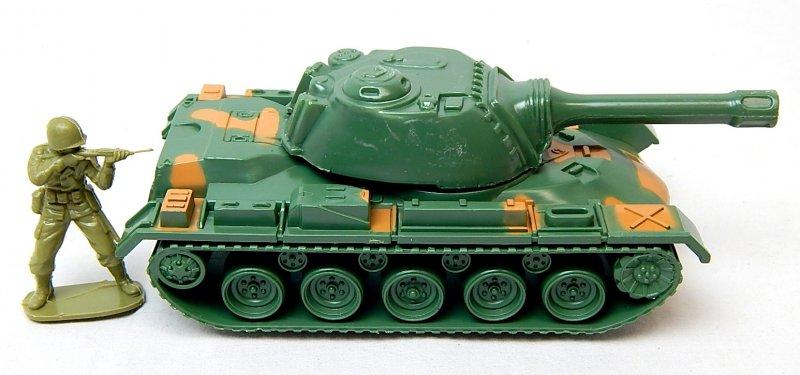 Image 2 of U.S. Army M48 M60 Patton Green Camo Plastic Tank
