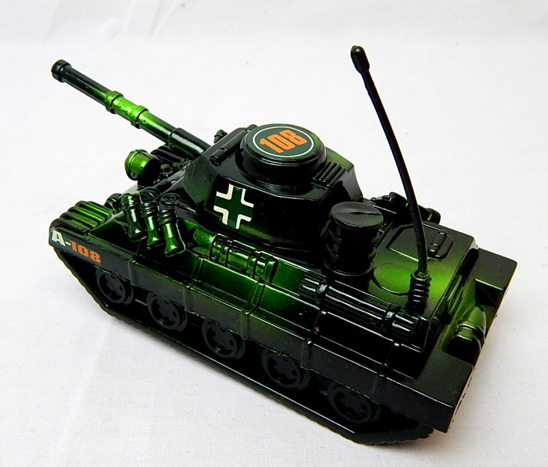 Image 1 of World War II German Panzer Tank Metallic Green Plastic Finish