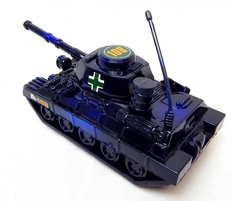 Image 1 of World War II German Panzer Tank Metallic Blue Plastic Finish
