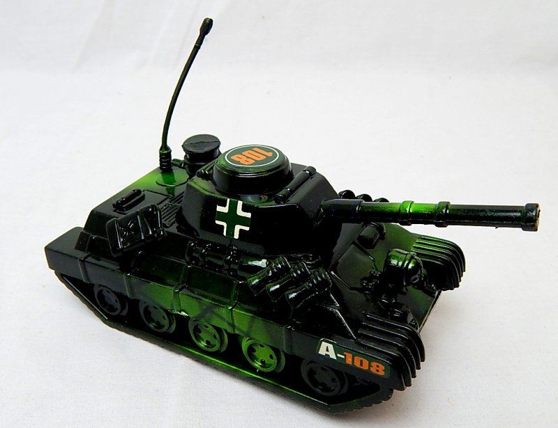 Image 2 of World War II German Panzer Tank Metallic Blue Plastic Finish