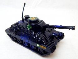 World War II German Panzer Tank Metallic Blue Plastic Finish