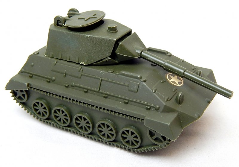 Image 0 of World War II Modern Armored Light Tank Green Plastic Vehicle