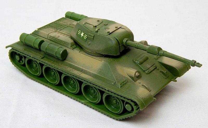 Image 0 of World War II Russian T-34 Style Green Camo Plastic Tank