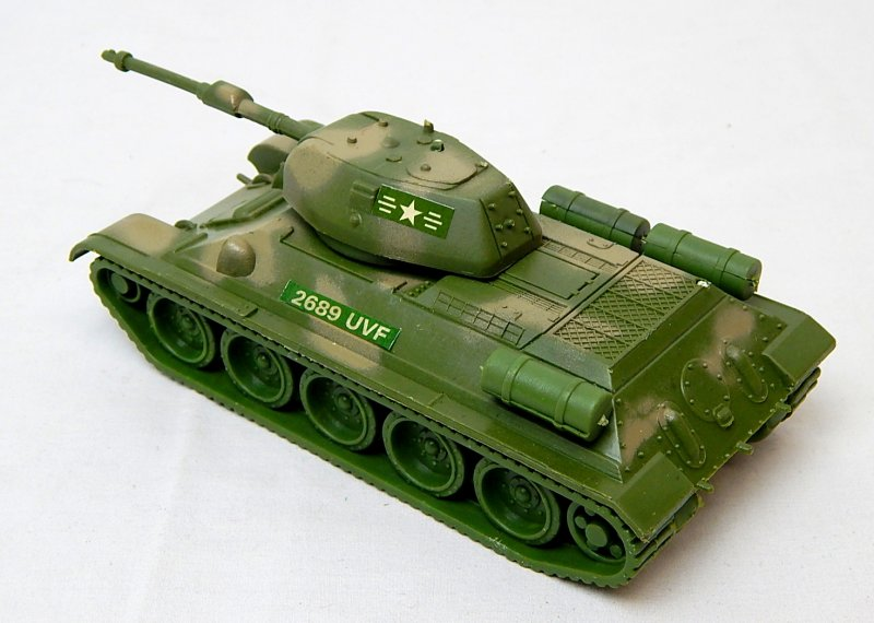 Image 1 of World War II Russian T-34 Style Green Camo Plastic Tank