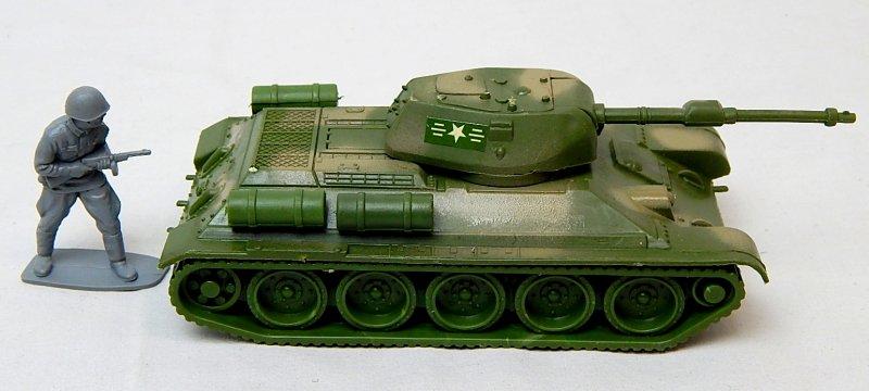 Image 2 of World War II Russian T-34 Style Green Camo Plastic Tank