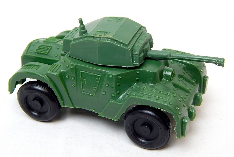 Image 0 of World War II Style Green Plastic Armored Car