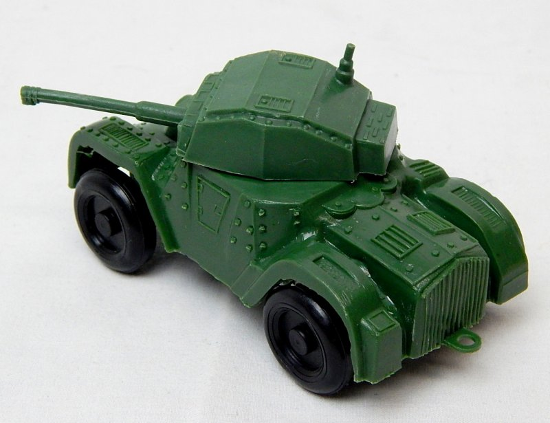 Image 1 of World War II Style Green Plastic Armored Car