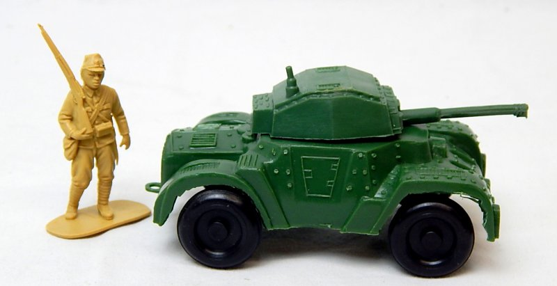 Image 2 of World War II Style Green Plastic Armored Car