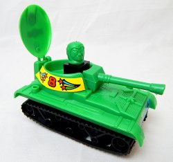 Self Propelled Assault Gun Green Plastic 'Space' Tank
