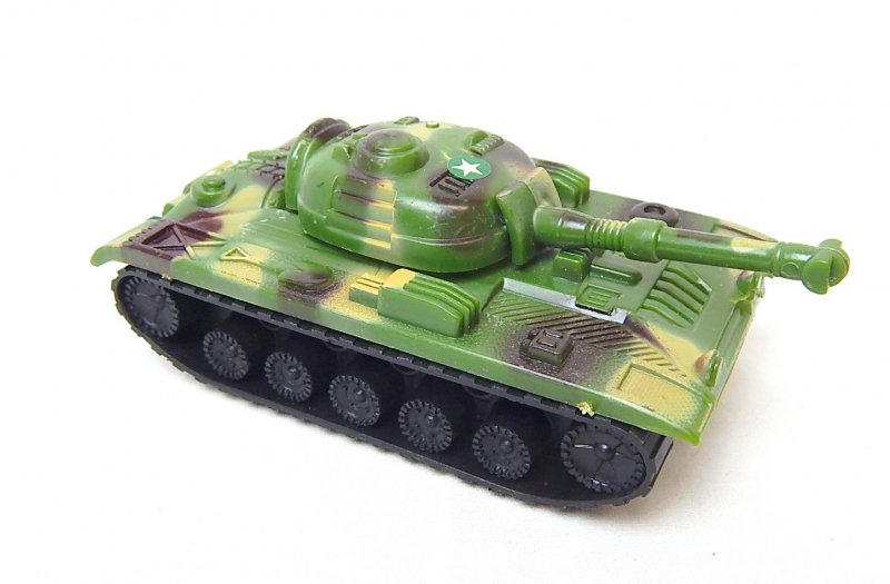 Image 0 of Russian Style T-54 Green Camo Plastic Tank