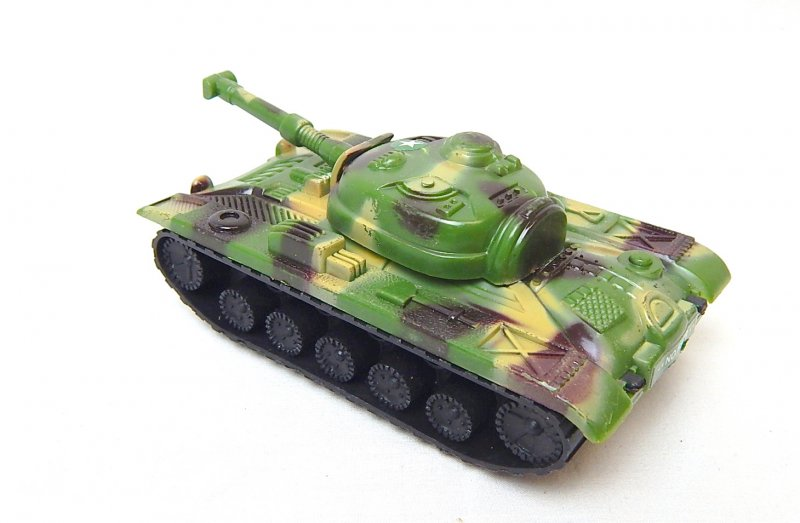 Image 1 of Russian Style T-54 Green Camo Plastic Tank
