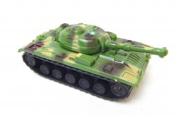 Russian Style T-54 Green Camo Plastic Tank