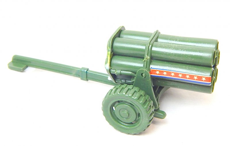 Image 1 of WWII Modern Style Green Plastic Mobile Rocket Battery