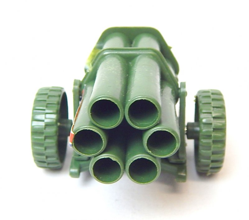 Image 2 of WWII Modern Style Green Plastic Mobile Rocket Battery