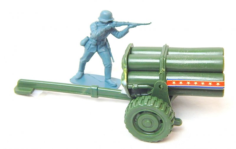 Image 3 of WWII Modern Style Green Plastic Mobile Rocket Battery