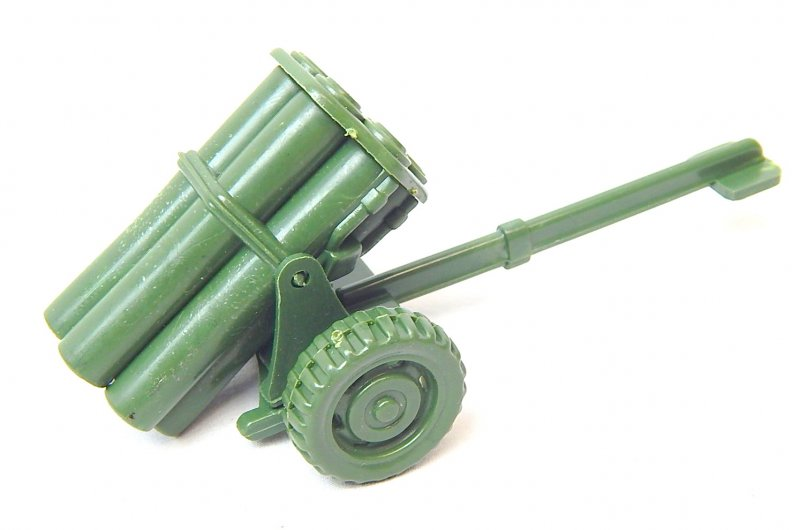 Image 4 of WWII Modern Style Green Plastic Mobile Rocket Battery