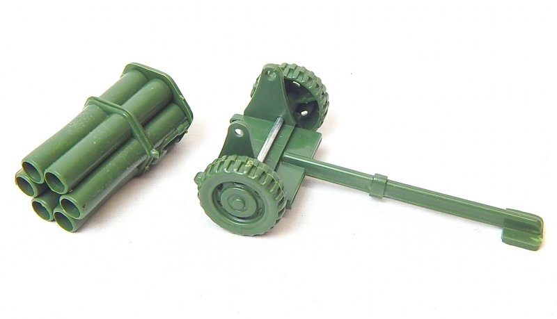 Image 5 of WWII Modern Style Green Plastic Mobile Rocket Battery
