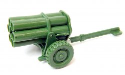 WWII Modern Style Green Plastic Mobile Rocket Battery