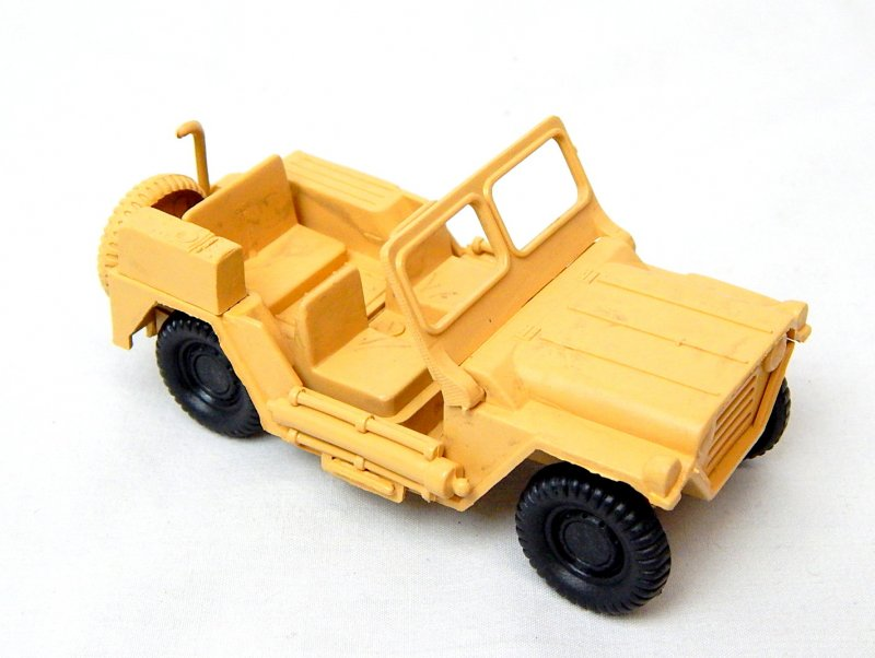 Image 0 of World War 2 Desert Willys Style Plastic Army Jeep