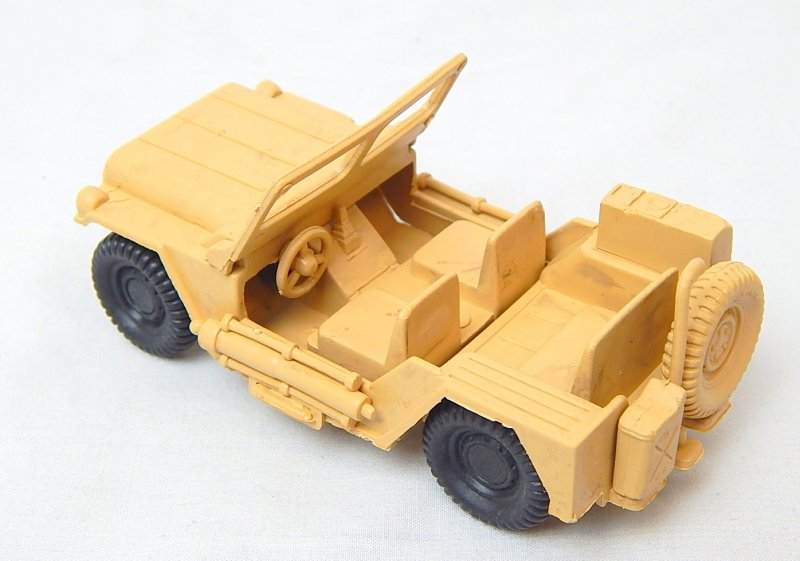 Image 1 of World War 2 Desert Willys Style Plastic Army Jeep