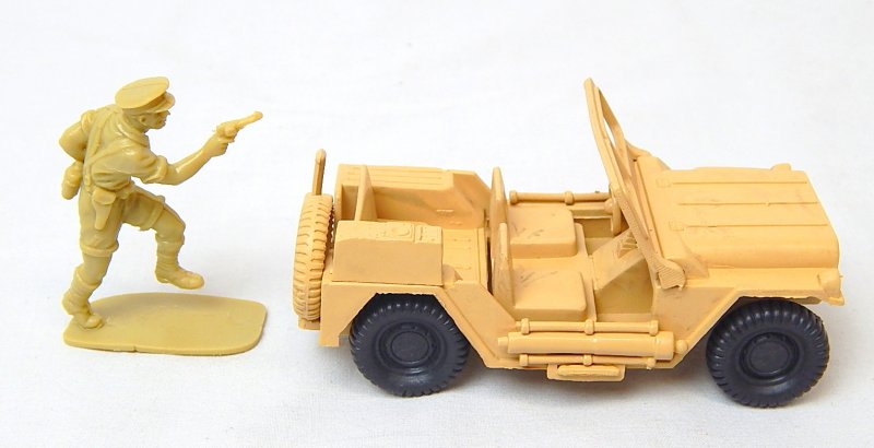 Image 2 of World War 2 Desert Willys Style Plastic Army Jeep