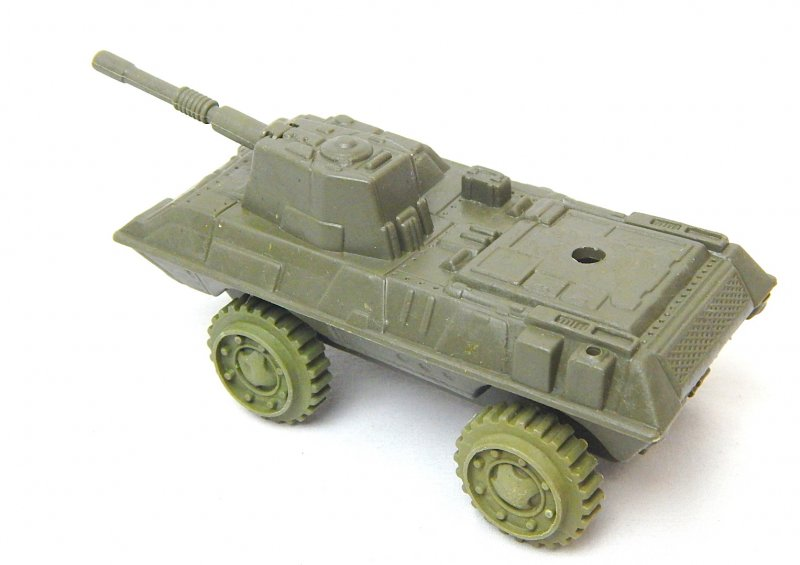 Image 1 of Modern Style 4 wheeled Green Plastic Armored APC Car