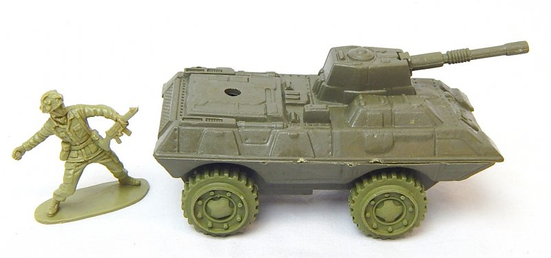 Image 2 of Modern Style 4 wheeled Green Plastic Armored APC Car