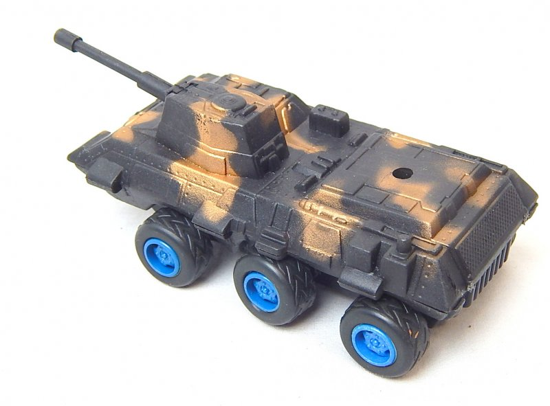 Image 1 of Modern Style 6 wheeled Black Camo Plastic Armored APC Car