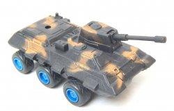 Modern Style 6 wheeled Black Camo Plastic Armored APC Car