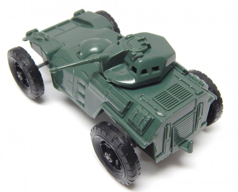 Image 1 of Timmee Processed Plastic Green Wide Axle Army Armored Car (pre-owned)