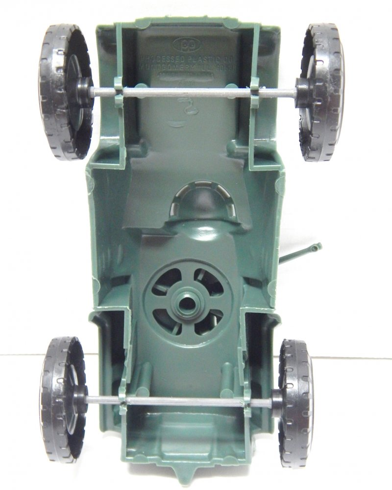 Image 2 of Timmee Processed Plastic Green Wide Axle Army Armored Car (pre-owned)
