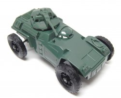 Timmee Processed Plastic Green Wide Axle Army Armored Car (pre-owned)