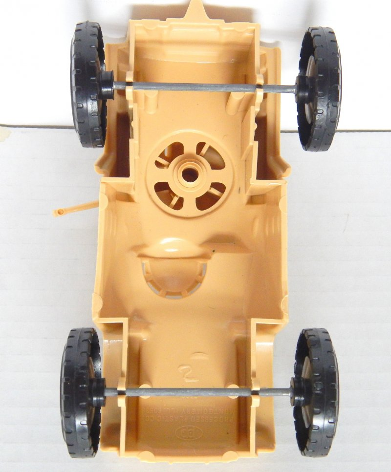 Image 2 of Timmee Processed Plastic Tan Wide Axle Army Armored Car (pre-owned)