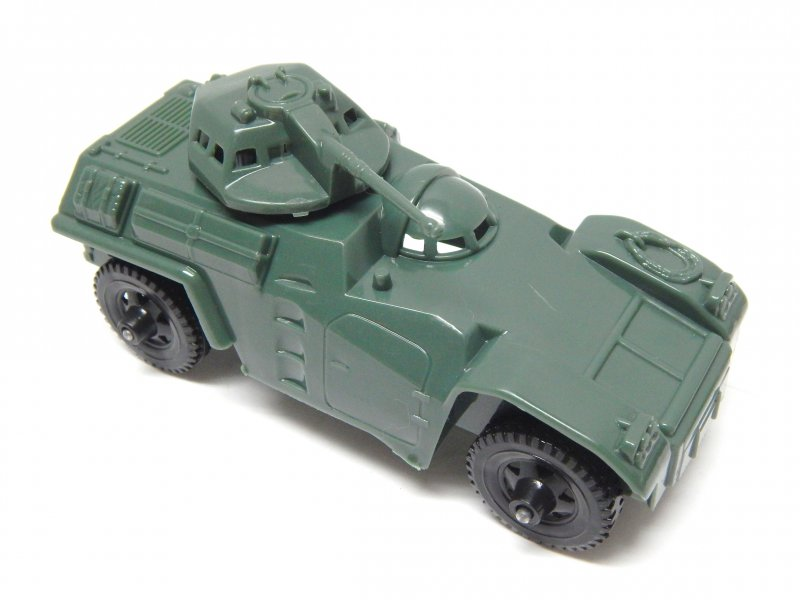 Image 0 of Timmee Processed Plastic Green Army Armored Car (pre-owned)