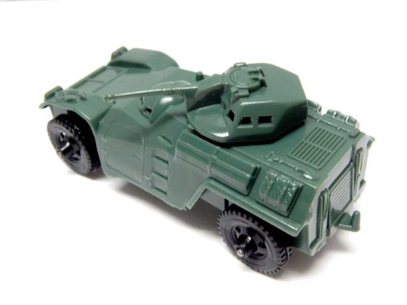 Image 1 of Timmee Processed Plastic Green Army Armored Car (pre-owned)