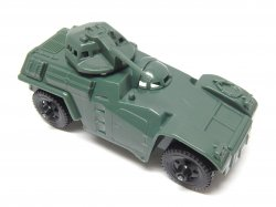 Timmee Processed Plastic Green Army Armored Car (pre-owned)