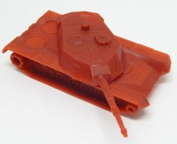 HO Scale Abrams 'Red' Plastic Military Modern Tank