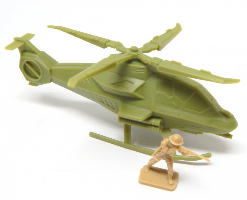 Image 0 of Modern Sci-Fi Style HO Scale Green Plastic Attack Helicopter